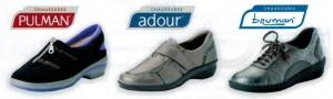 Chaussures médicales, paramédicales et de confort, marque Adour, Bruman, Pulman